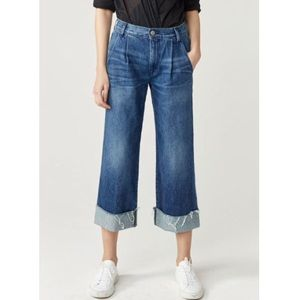 [3x1] Shelter Pleated Crop High Waist Jeans